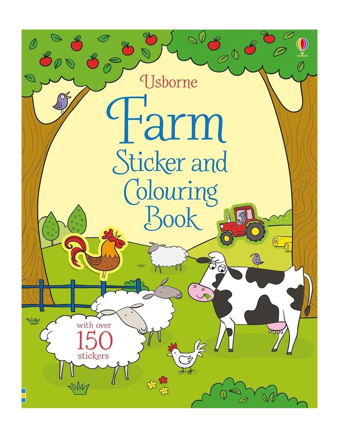 Usborne Publishing Ltd Farm sticker and colouring book