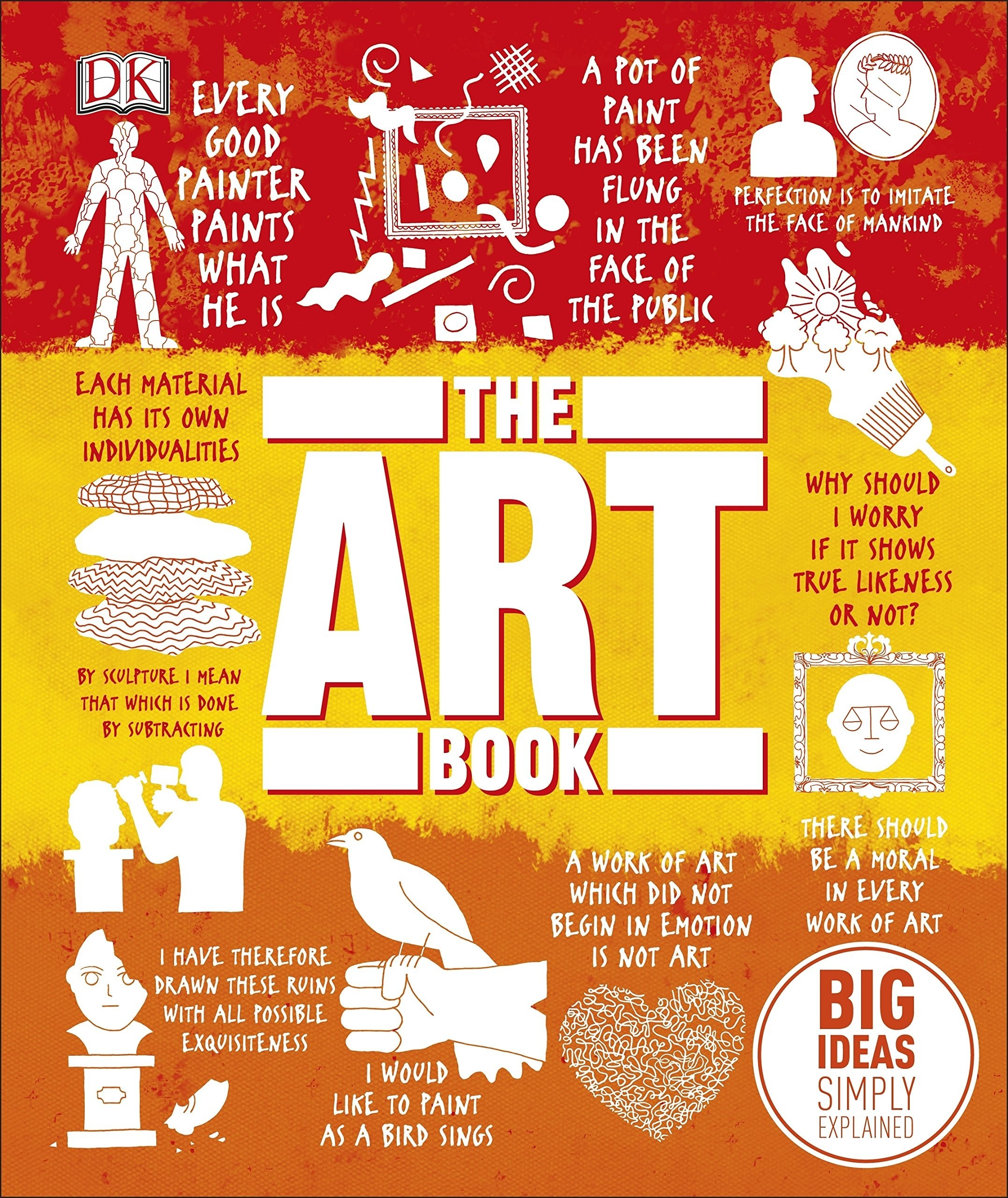 Embark on a grand tour of art history with this guide to the story of art, and the big ideas and themes behind the world's most important artistic movements, artworks, and artists.The Art Book explores the more than 80 of the world's most groundbreaking artworks by history's most influential painters, sculptors, and artists with stunning visuals and insightful quotations. Discover key artworks and artists from across the globe, stretching from the prehistoric Altamira cave paintings and Chinese jade carvings to more impressionism, symbolism, cubism, and pop art.Understand the ideas that inspired masterpieces by Botticelli, Rembrandt, Klimt, Matisse, Picasso, and dozens more, with The Art Book's fascinating overview of painting, drawing, printing, sculpture, conceptual art, and performance art, from ancient history to the modern day.