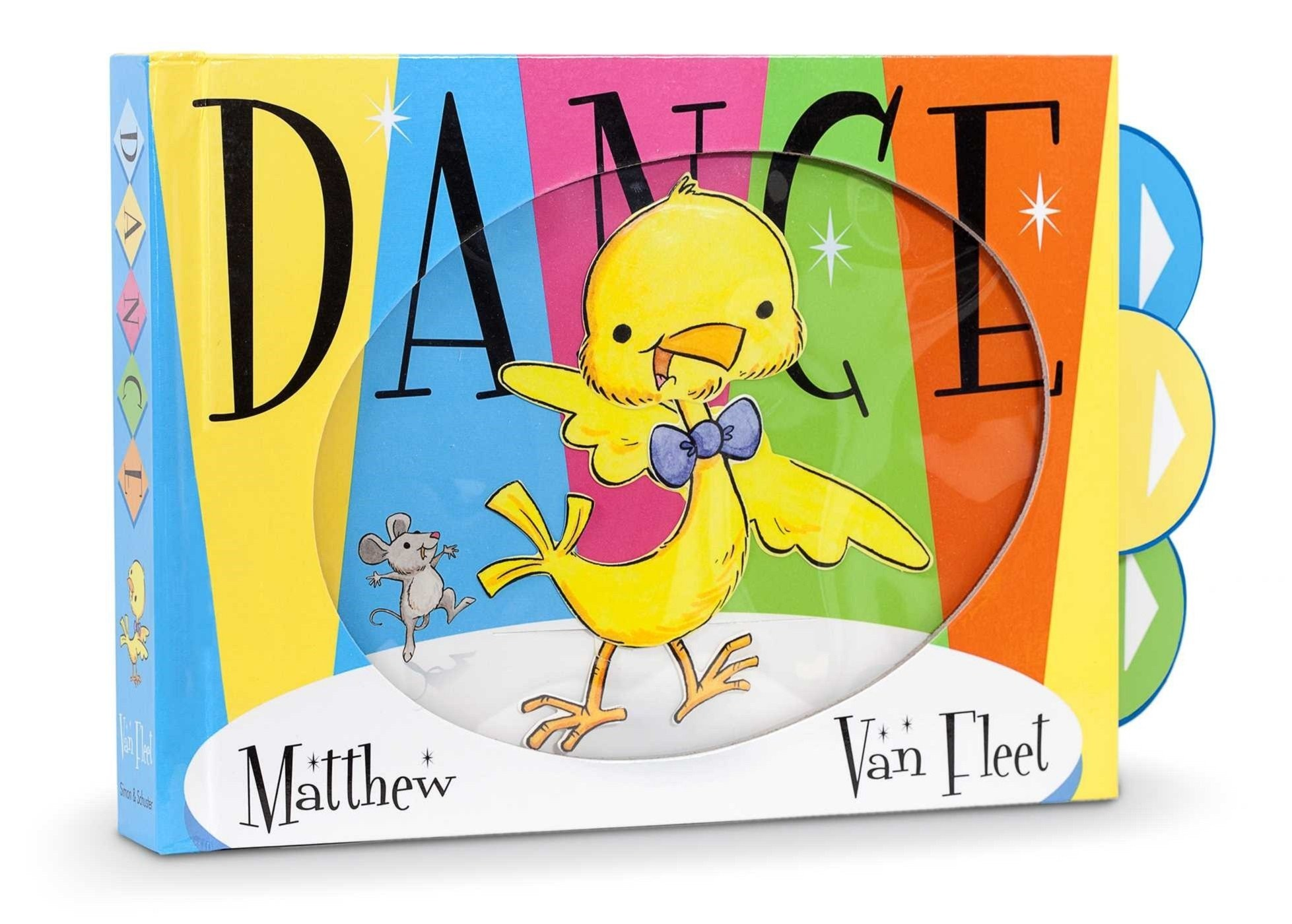 From the #1 New York Times bestselling children's book creator Matthew Van Fleet comes a laugh-out-loud, jazzy story of a little baby chick who learns how to dance from a friendly band of animals who know all the right moves!Shake, shake, shake, shimmy, shimmy, shake! You can dance! Young readers will delight in the charming art, jazzy text, and in pulling the five sturdy pull tabs to make the different animals bounce, shake and bop as they dance to the Hippoppta Hula, Gator Mashed Patater, and more! Listen and dance to the song at VanFleetBooks.com. Get your dancing feet ready!