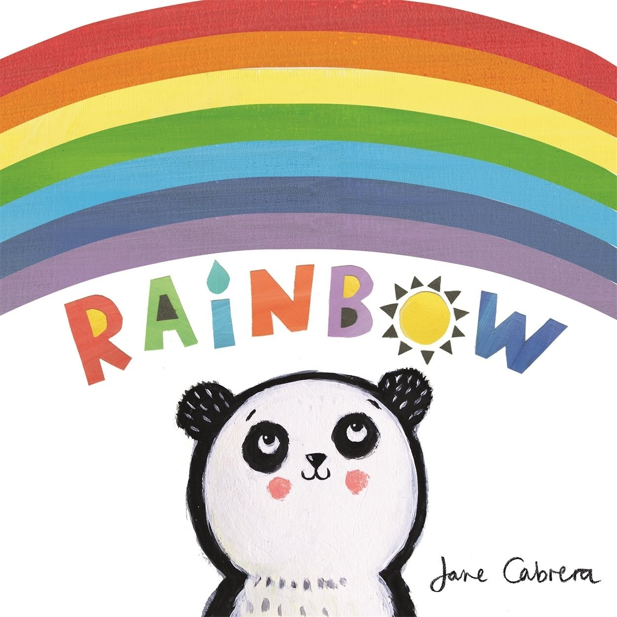 A clever dye-cut board book that reflects the shape of a rainbow. Each arch-shaped page reveals a new colour and features beautiful, bold creatures painted in Jane Cabrera's stunning trademark style.