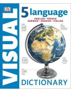 5 Language Visual Dictionary : English, French, German, Spanish, Italian