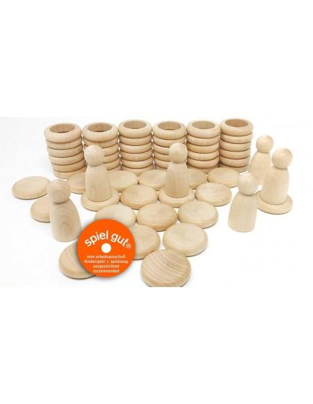 Nins, rings & coins Natural Wood