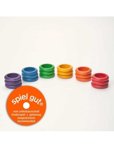 18 x rings (6 colors)