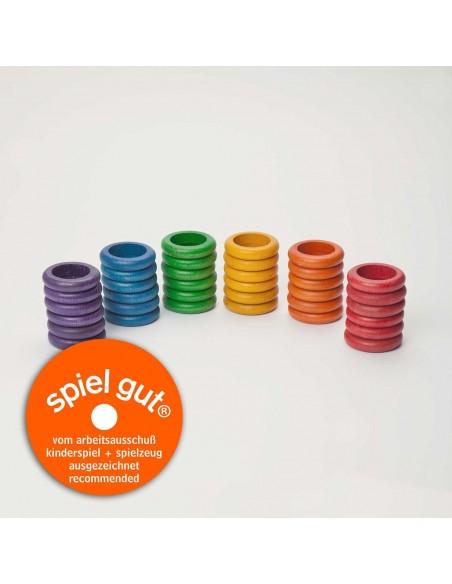 36 x rings (6 colors)