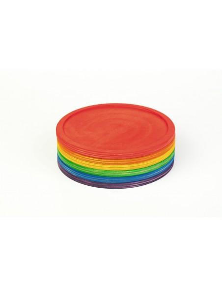 6 rainbow dishes