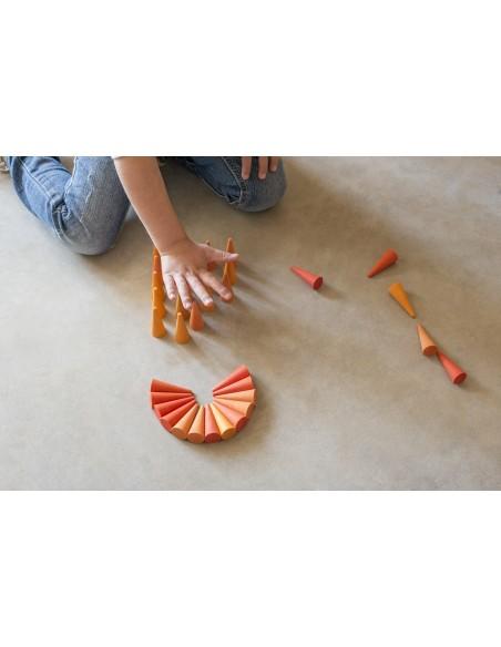 Mandala orange cone